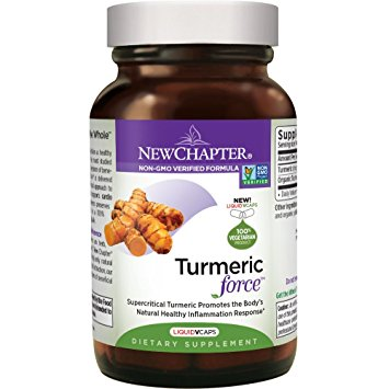 New Chapter Turmeric Supplement ONE DAILY - Turmeric Force for Healthy Inflammation with Organic Turmeric + Non-GMO Ingredients  - 60 Vegetarian Capsule