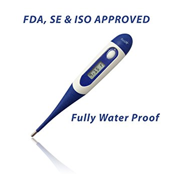 Best Quality Oral Digital Thermometer - For Infants, Kid & Adults - 30 Seconds Read & Monitor Fever Temperature for Fast & Accurate Measurement, Water Proof, and Flexible