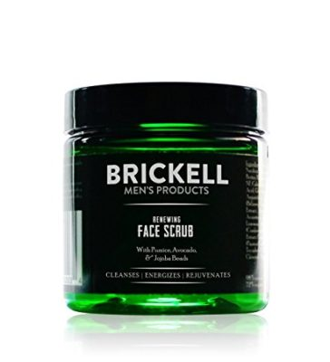 Brickell Men's Renewing Face Scrub for Men - 2 oz - Natural & Organic