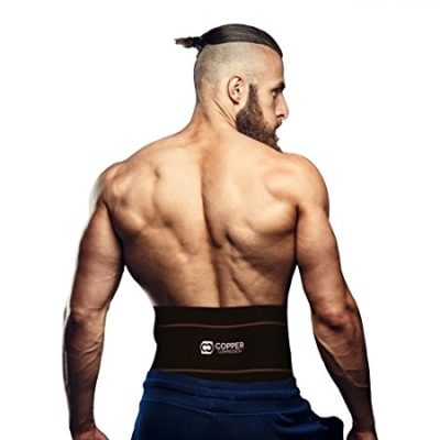Copper Compression Recovery Back Brace - #1 GUARANTEED Highest Copper Content With Infused Fit. This Lower Back Lumbar Support Belt / Wrap Works Great While Sitting, Walking, Playing Sports, & More!