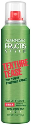 Garnier Fructis Style Texture Tease Dry Touch Finishing Spray, 3.8 oz.(Packaging May Vary)