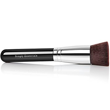 Kabuki Makeup Brush Flat - Ebook Included - This Brush Covers Imperfections and Creates Natural Makeup Look
