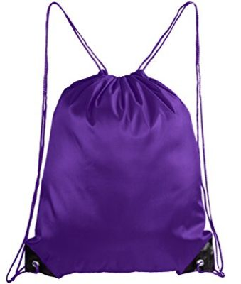 Mato & Hash Basic Drawstring Tote Cinch Sack Promotional Backpack Bag Purple