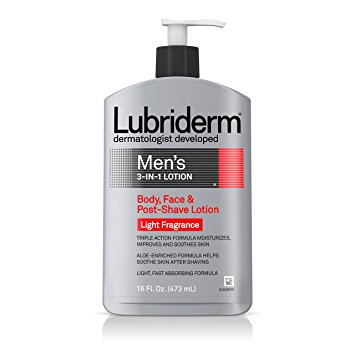Lubriderm Men's 3-in-1 Lotion With Light Fragrance, 16 Fl. Oz