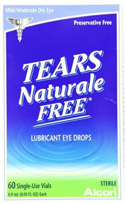 Tears Naturale Free Lubricant Eye Drops Single Use Vials-0.03 oz, 60 ct