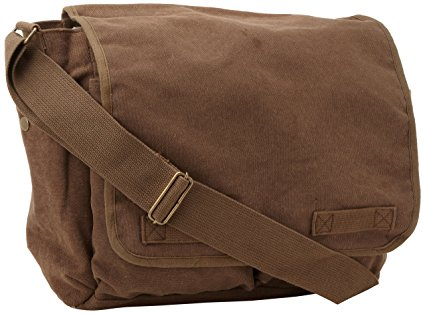 Brown Classic Army Messenger Heavy Weight Shoulder Bag